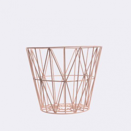 wire basket small 40 x 35 cm - rose