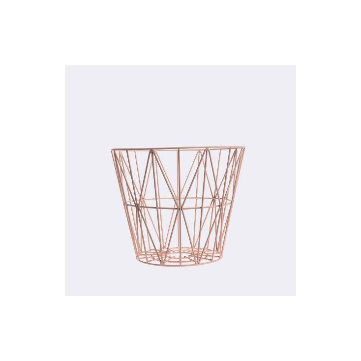 fr mobilier  wire basket small x cm rose