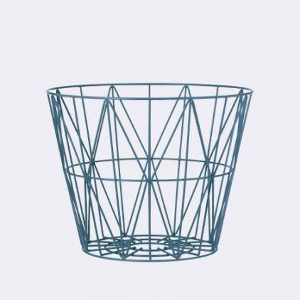 wire basket medium 50 x 40 cm - petrol