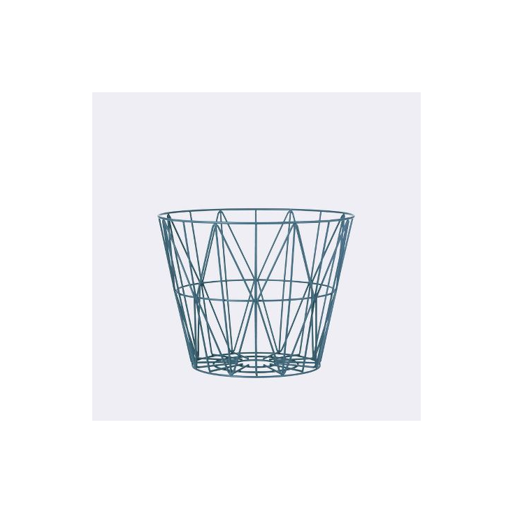 fr mobilier  wire basket small x cm petrol