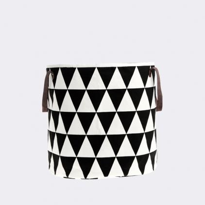 panier en tissu 35 x 40 cm - triangle