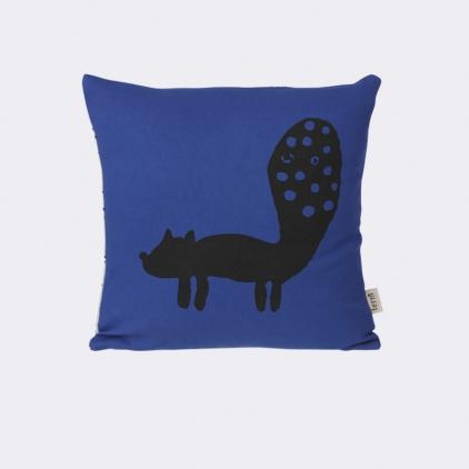 Fox cushion blue