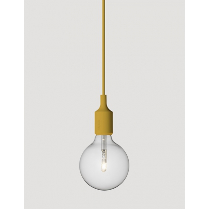 E27 socket lamp mustard