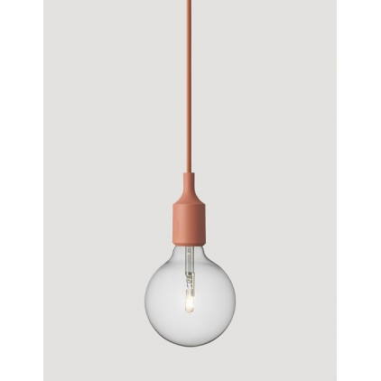 E27 socket lamp terracotta