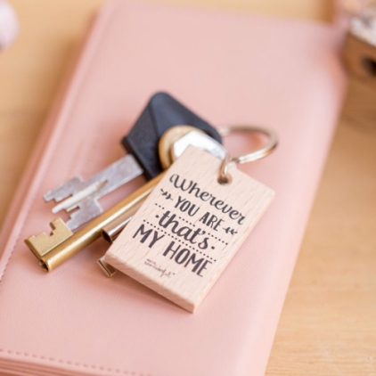 Porte-clef Wherever you are that's my home