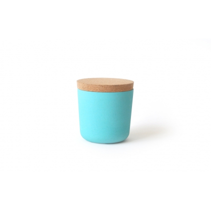 Gusto Small Storage Jar with cork lid lagoon