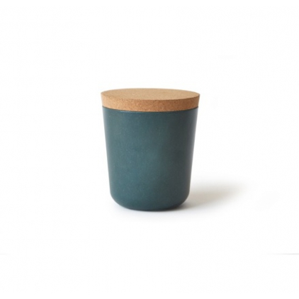 Gusto Small Storage Jar with cork lid blue abyss