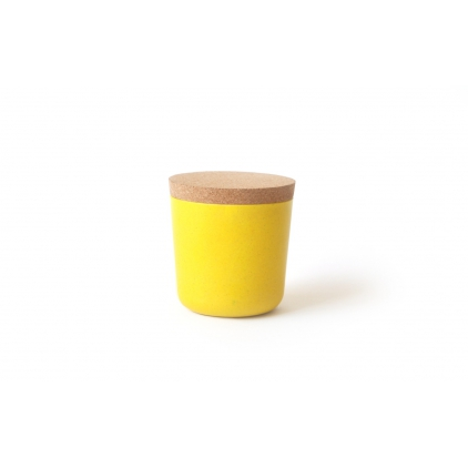 Gusto Small Storage Jar with cork lid lemon