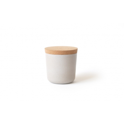 Gusto Small Storage Jar with cork lid stone