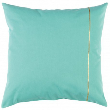 housse coussin 50 x 50 cm - menthe or
