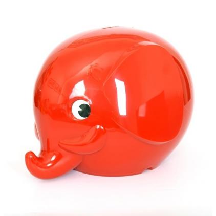 Tirelire Eléphant Norsu rouge