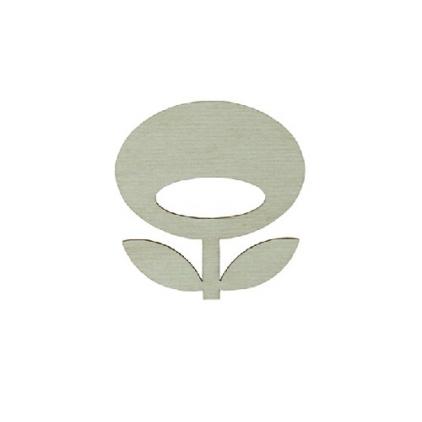 broche fleur - snug flower vert eau