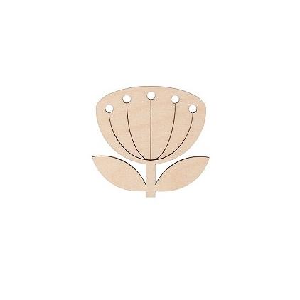 broche fleur - snug blowball nude