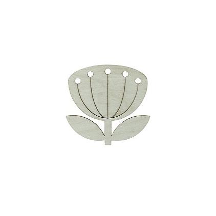 broche fleur - snug blowball gris