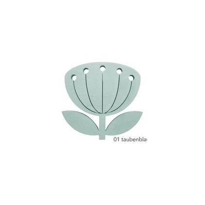 broche fleur - snug blowball vert d'eau