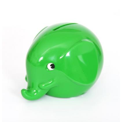 Tirelire Eléphant Norsu vert