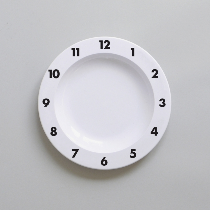 Assiette Time noir